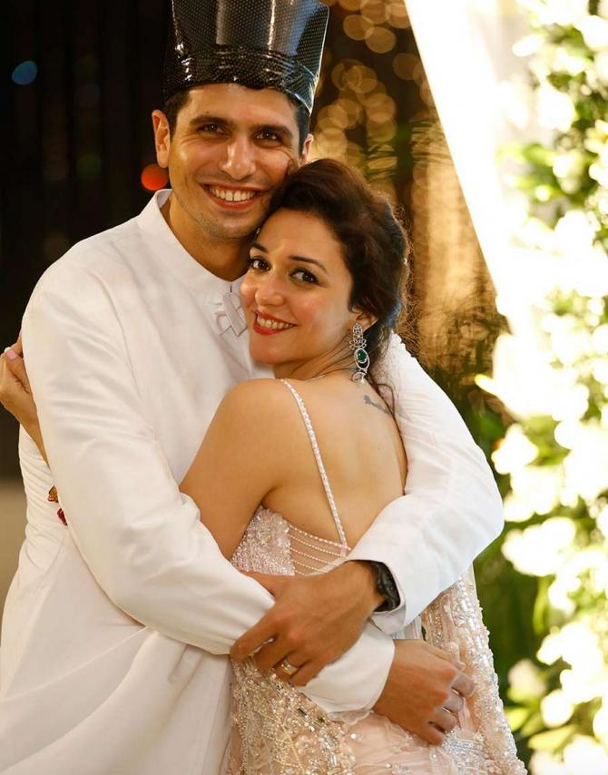 India Tv - Nauheed Cyrusi tied knot with her longtime beau Rustom in a traditional Parsi ceremony.