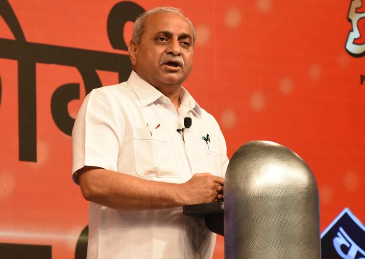 Gujarat Deputy CM Nitin Patel at India TV's Chunav Manch