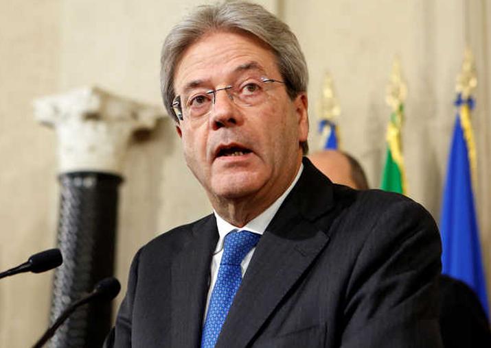 File pic of Italian PM Paolo Gentiloni