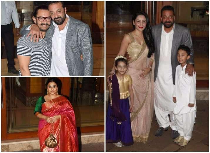 Bolywood celebs at Sanjay Dutt Diwali bash