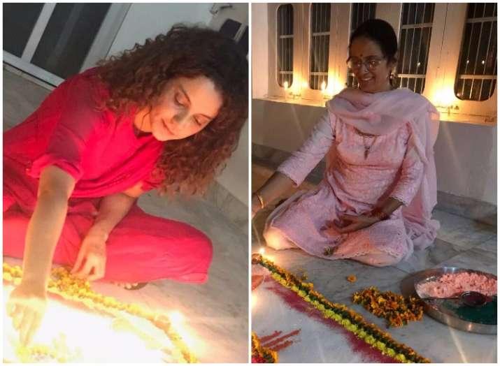 Kangana Ranaut Diwali celebration