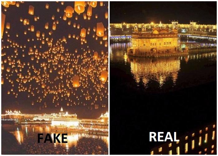 golden temple photoshop image
