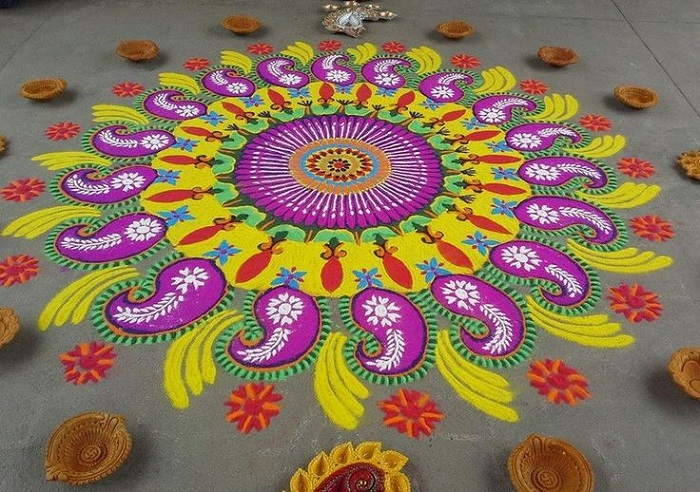 Happy Diwali 2017 Beautiful Diwali Rangoli Designs, Ideas And Images For  Decoration.Photo:PTI