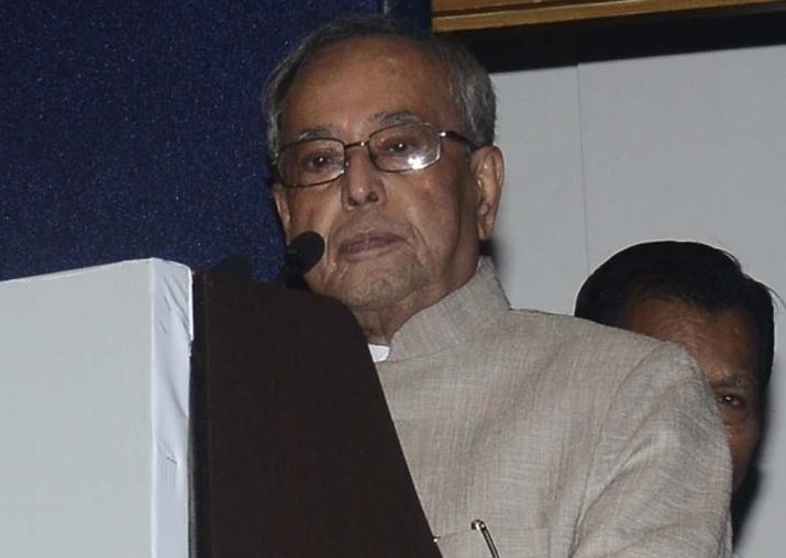 File pic of former President Pranab Mukherjee