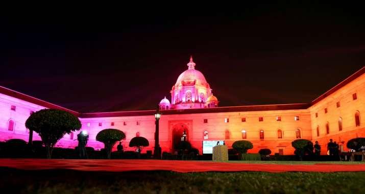 India Tv - Raisina Hills gets dynamic facade lighting