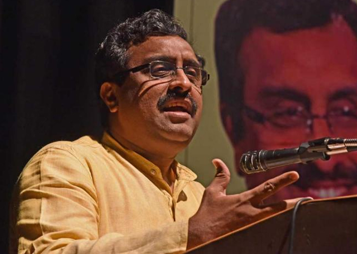 File pic of BJP leader and its Kashmir in-charge Ram Madhav