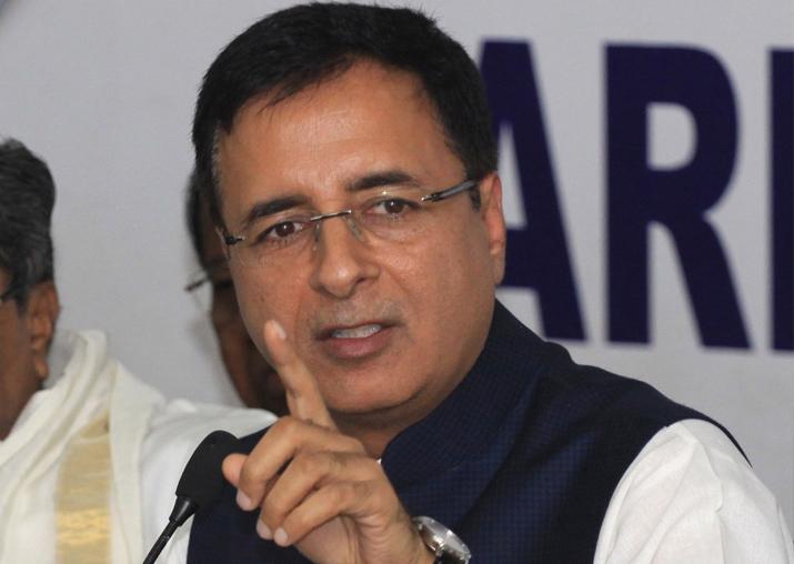 File pic of Congress leader Randeep Surjewala