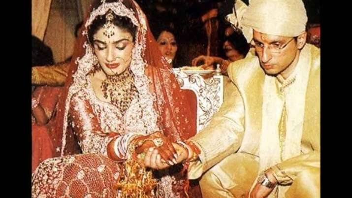 India Tv - Raveena Tandon with her husband