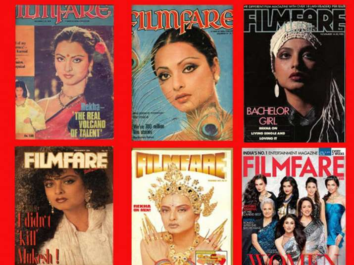 India Tv - Rekha on magazine covers
