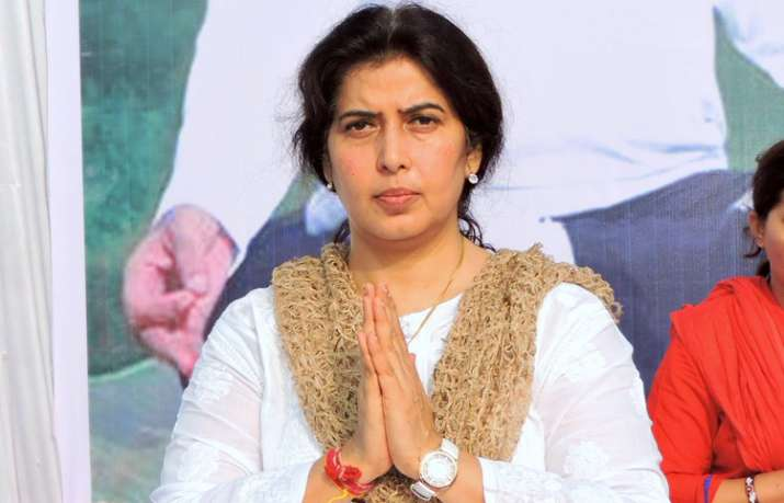 Saroj Pandey was reacting to attacks on BJP workers in