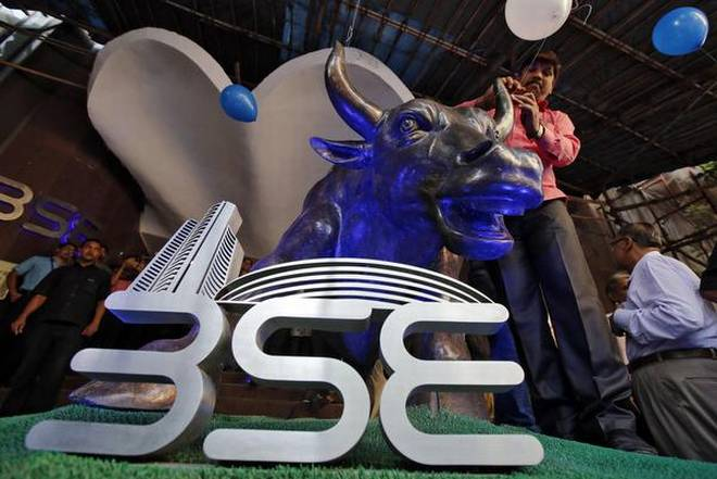 Sensex was up 435.16 points at 33,042.50 and the 50-share