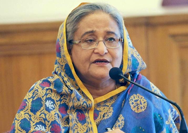 File pic of Bangladesh Prime Minister Sheikh Hasina