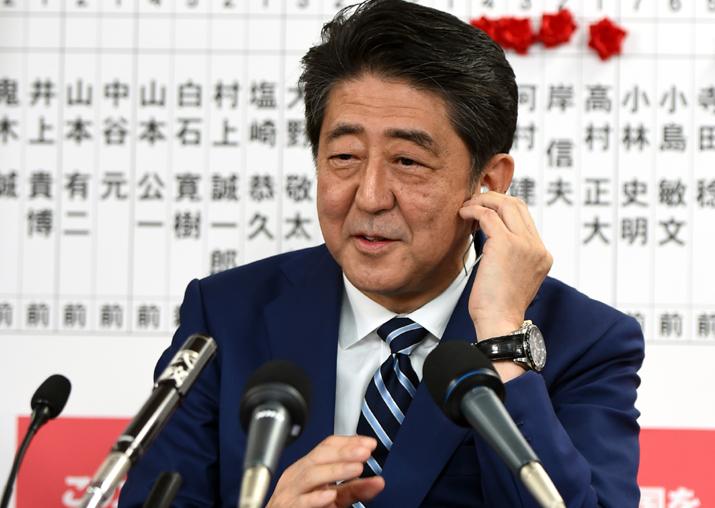 File pic of Japan Prime Minister Shinzo Abe