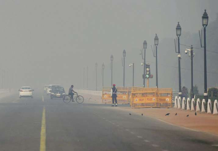 India Tv - The air quality in the national capital this Diwali was better than last year.