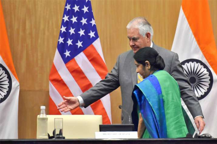 Minister for External Affairs Sushma Swaraj and U.S.