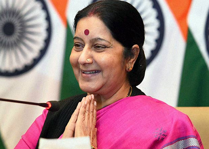 Sushma Swaraj on two-day visit to Bangladesh from Sunday
