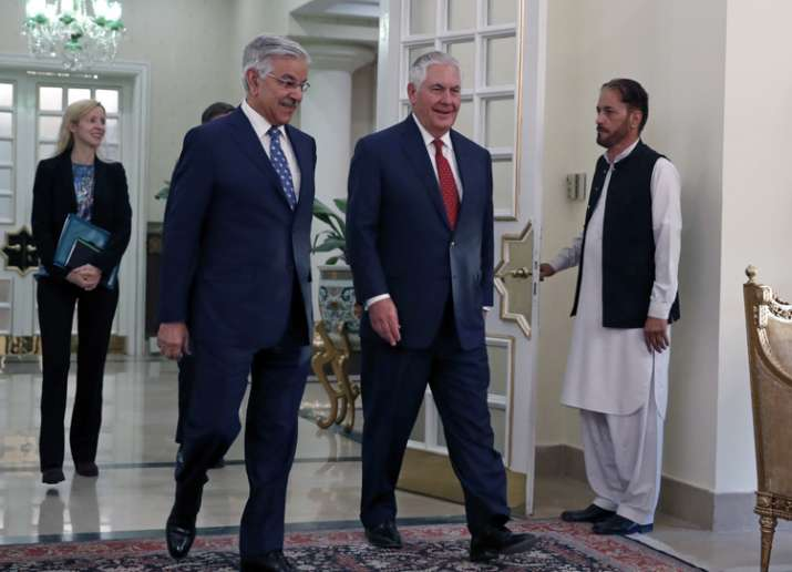 US Secretary of State Rex Tillerson with Pakistani Foreign