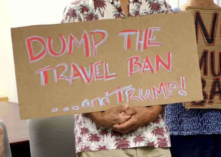 US judge blocks Donald Trump's new travel ban targeting