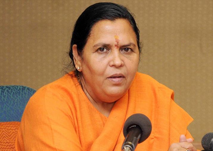 File pic of Union Minister Uma Bharti