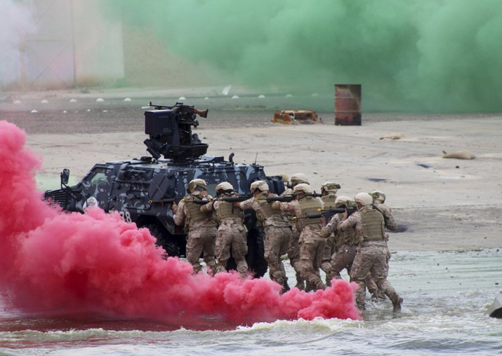 File - Gulf Arab soldiers take part in the Eagle Resolve