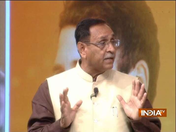 Gujarat CM Vijay Rupani at India TV conclave 'Chunav