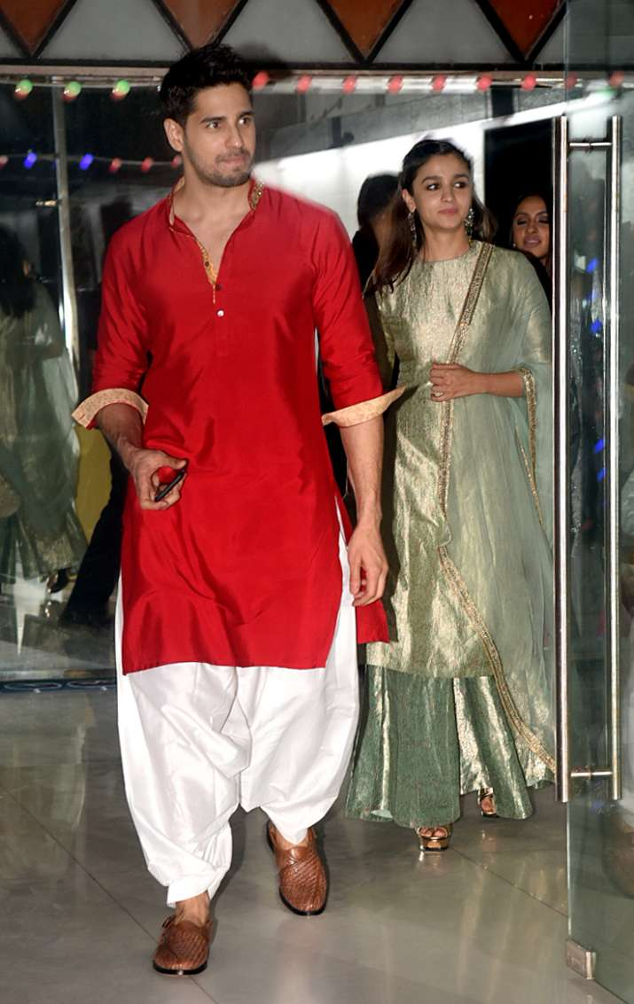 India Tv - Alia Bhatt and rumoured beau Sidharth Malhotra making an entry together