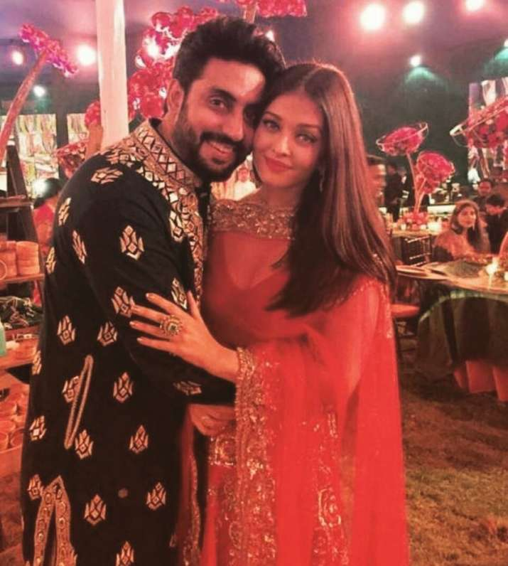 India Tv - Abhishek Bachchan and Aishwarya Rai at a wedding