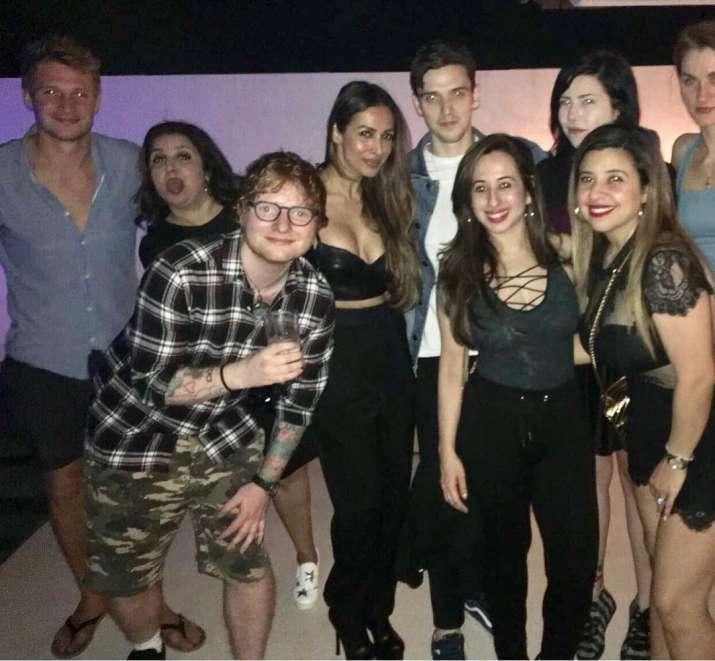 India Tv - Ed Sheeran having a blast at Farah Khan's party on Saturday night