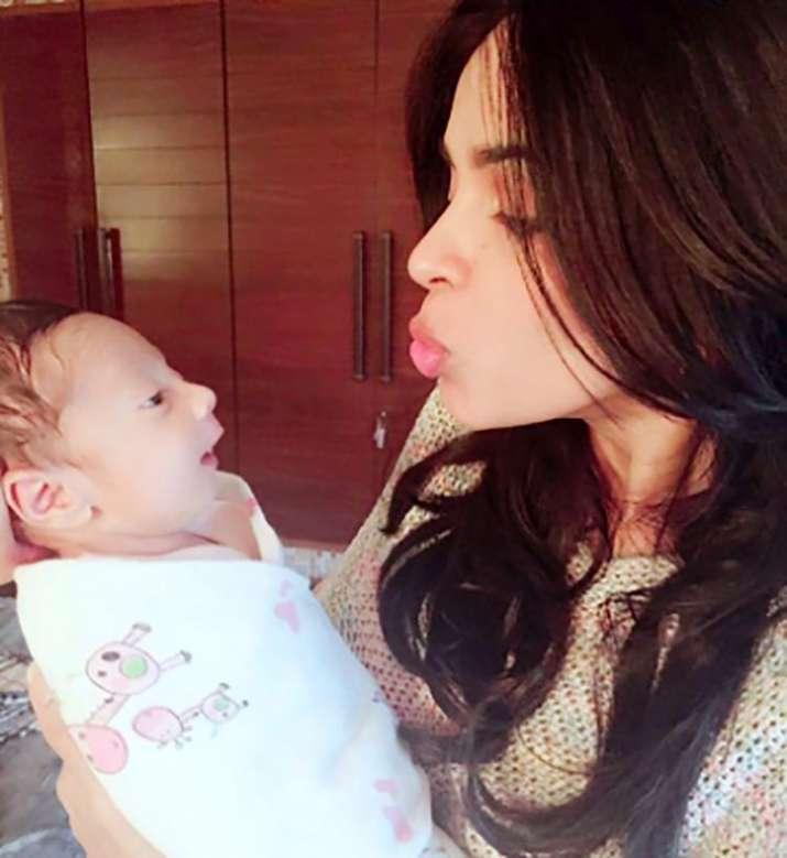 India Tv - Mallika Sherawat with nephew