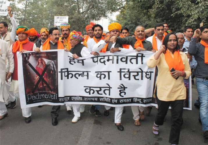 India Tv - Padmavati protest