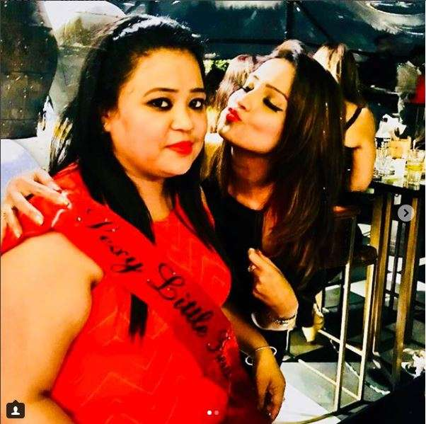 India Tv - Bharti Singh with Adaa Khan at her bachelorette party