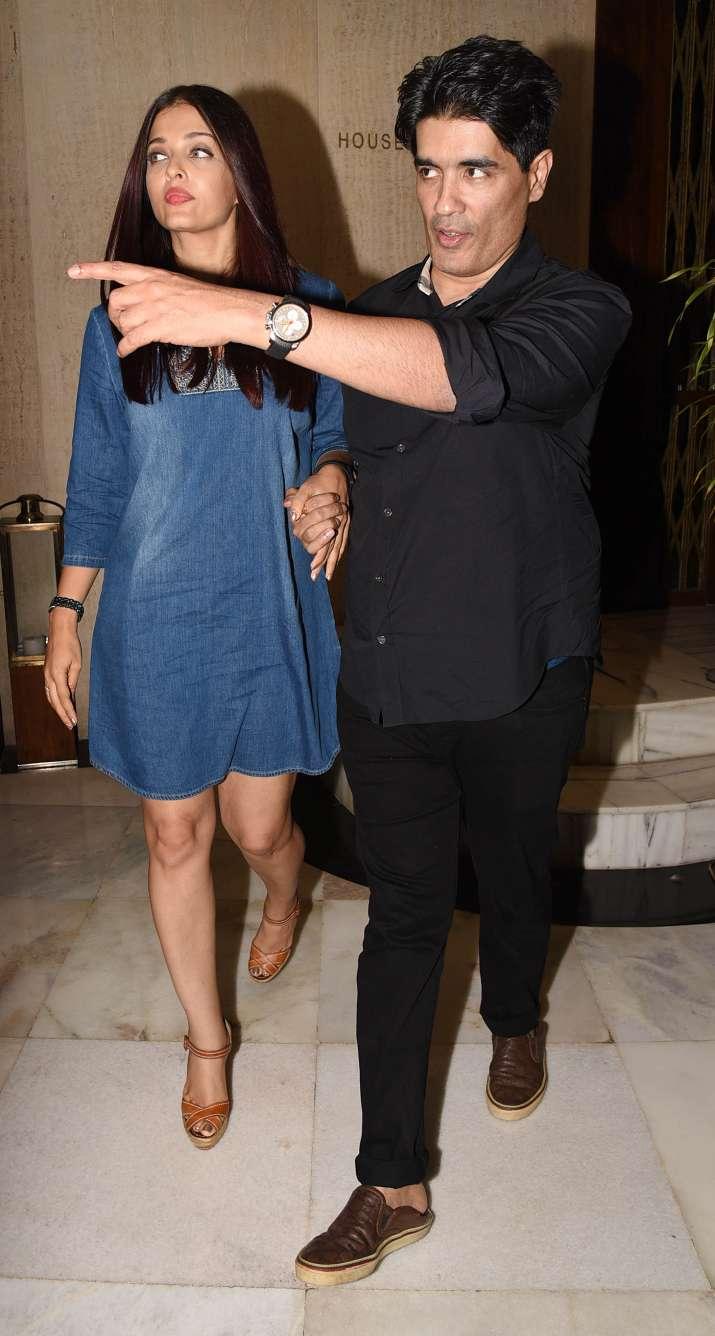 India Tv - Aishwarya with Manish Malhotra