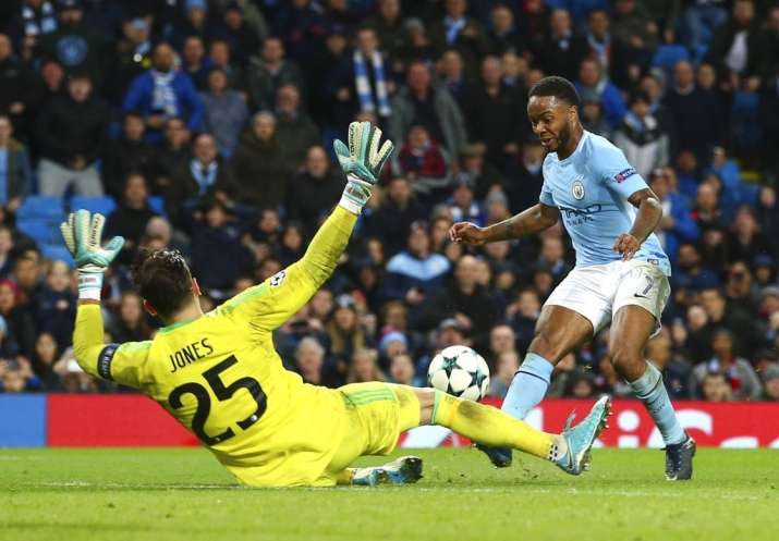 India Tv - Sterling nets in the lone goal for City.