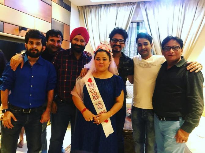India Tv - Bharti Singh wore a blue gown at her bridal shower