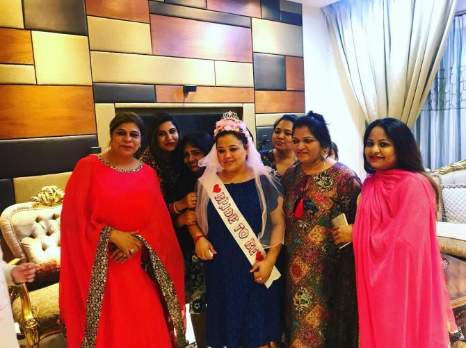 India Tv - Bharti Singh with family at her bridal shower