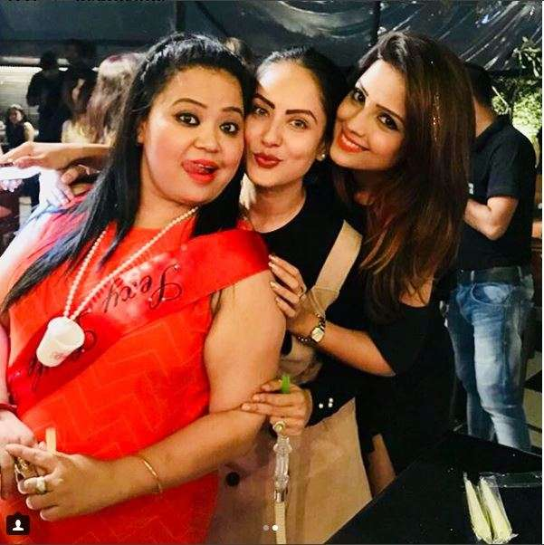 India Tv - Bharti Singh with close friends Adaa Khan and Puja Bannerjee at her bachelorette