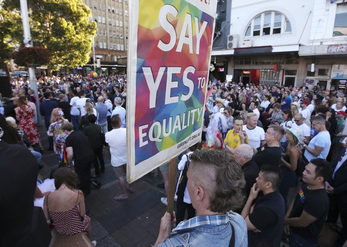 Australians endorse gay marriage, ensuring Parliament bill