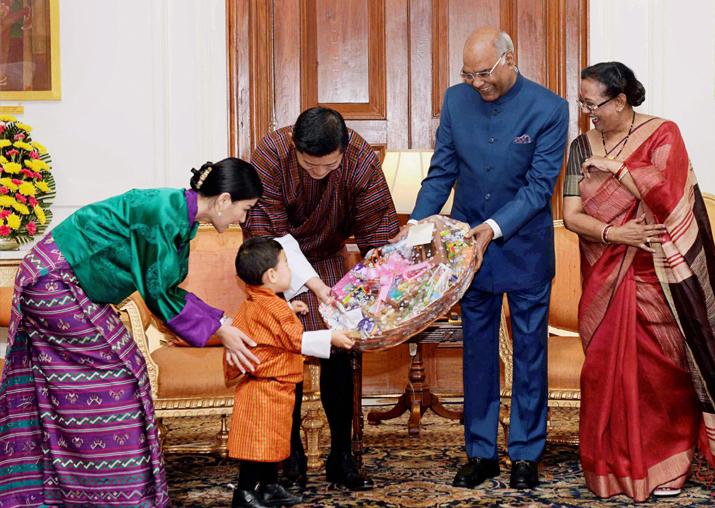 Bhutanese King Jigme Khesar Namgyel Wangchuck and Queen