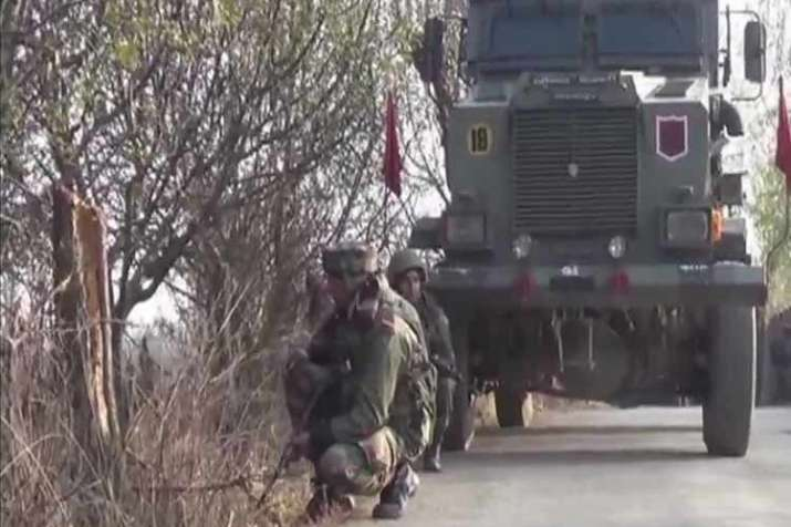 Deferred visuals from Budgam encounter in Kashmir