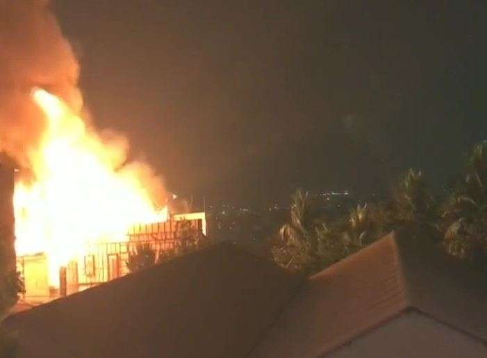 Fire broke out at Annapurna Studios. (Picture ANI/Twitter)