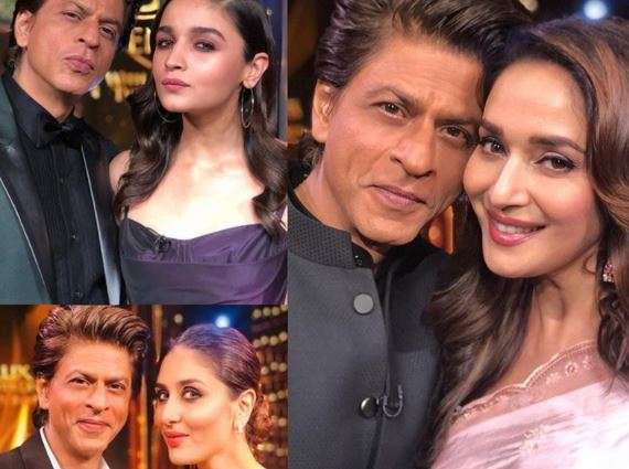 Shah Rukh Khan with Alia Bhatt, Madhuri Dixit and Kareena