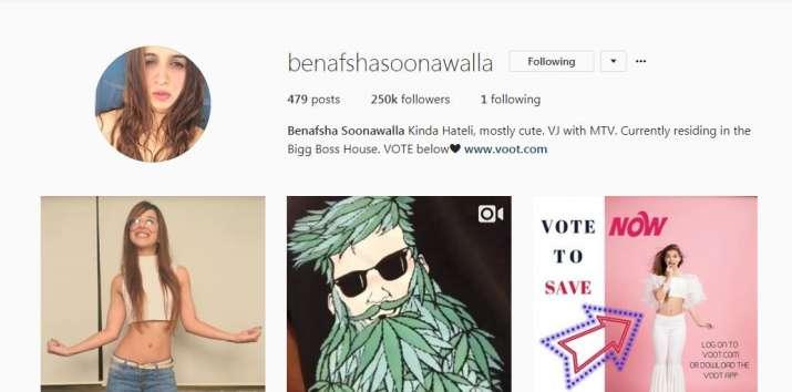 India Tv - Benafsha Soonawalla's Instagram account