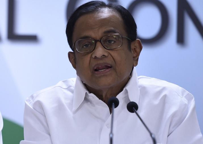 File pic of senior Congress leader P Chidambaram