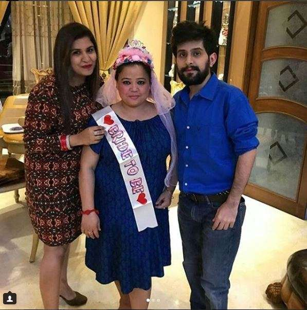 India Tv - Bride-to-be Bharti Singh with her friends at her bridal shower