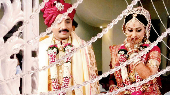 India Tv - Wedding pic of Disha Vakani