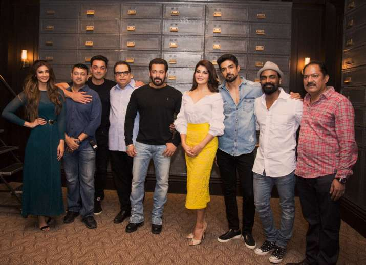 Salman Khan with Race 3 team