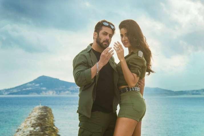 Salman Khan and Katrina Kaif in a still from Tiger Zinda