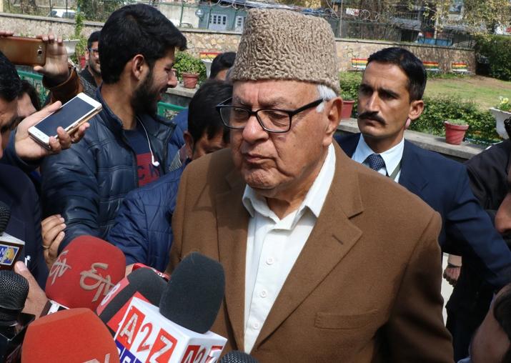 File pic of Farooq Abdullah