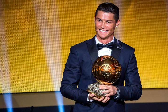 India Tv - A file image of Ronaldo with the Ballon d' Or