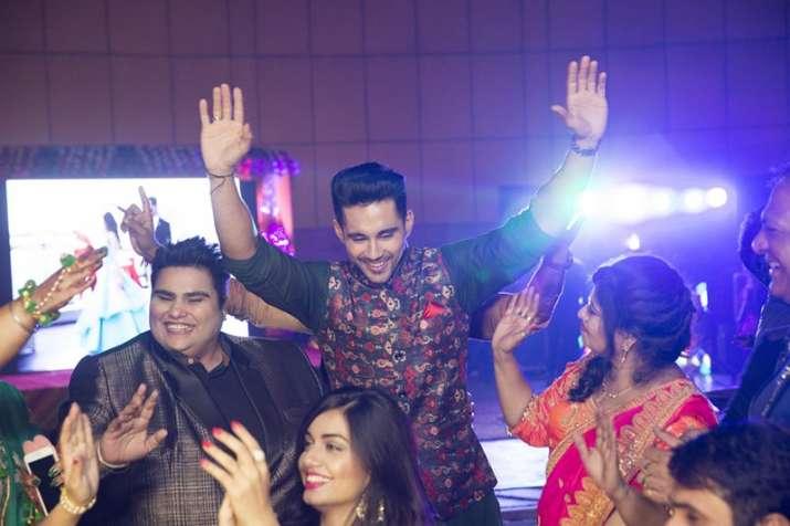 India Tv - Groom Abhishek Bajaj dancing at the Sangeet ceremony